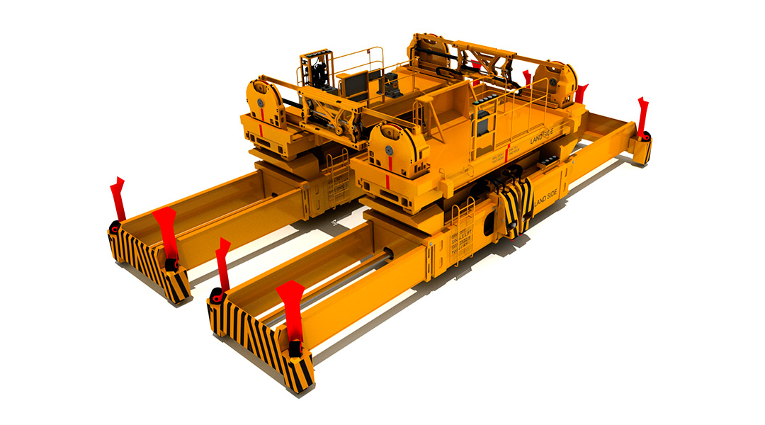 RAM 'SINGFLEX' TWIN SPREADER HEADBLOCK CONNECTION FOR SINGLE HOIST CRANES