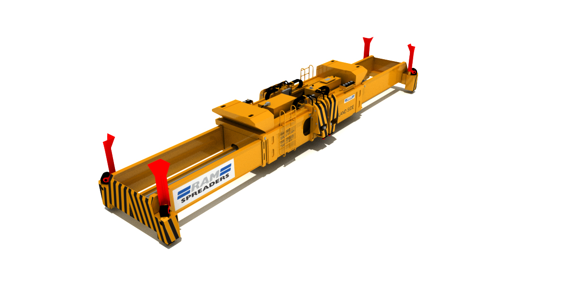 ALL ELECTRIC TWINLIFT SPREADER FOR STS CRANES