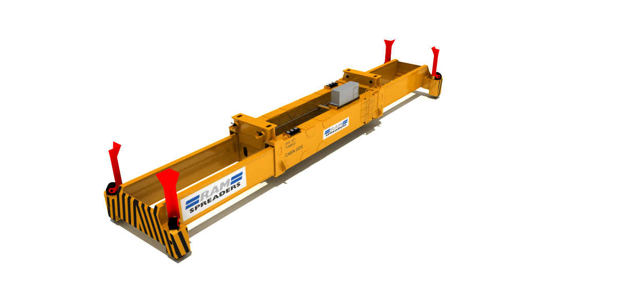 ALL ELECTRIC SINGLE LIFT SPREADER FOR YARD CRANES